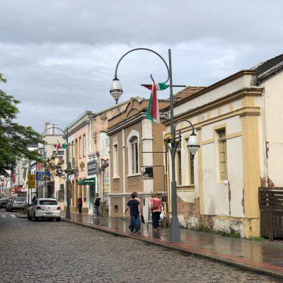 Casas históricas no Centro da cidade